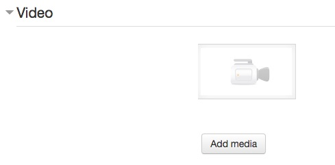 Add Media button under the Video section when editing the assignment.
